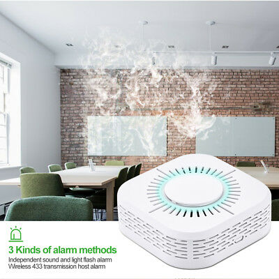 Wireless Fire Smoke Sensor Detector Alarm Battery Home Security Guarding System
