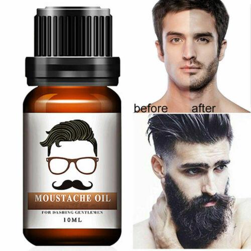 Men Beard Growth Oil Hair Mustache Natural Liquid Care Fast Grow Conditioner