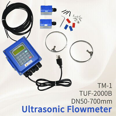 Ultrasonic Flow Meter Liquid Flowmeter Dn50dn700mm With Tm-1 Transducer Ip67