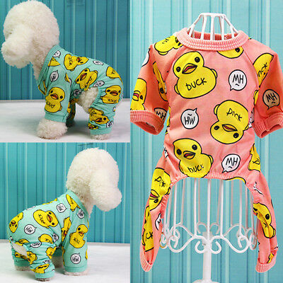 US Cute Small Dog Pajamas Clothes Chihuahua Pet Puppy Clothing for Dog Jumpsuit Cute Dog Clothing