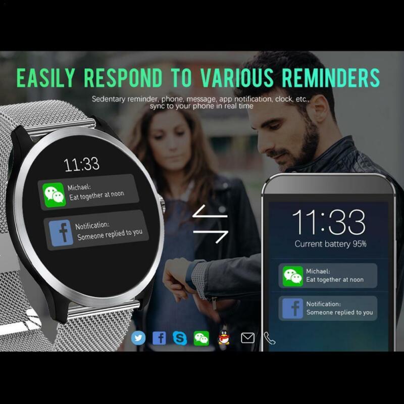 n58 smart watch bracelet hrv report heart