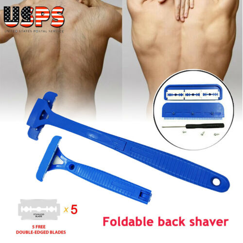 foldable back razor shaver groomer body leg