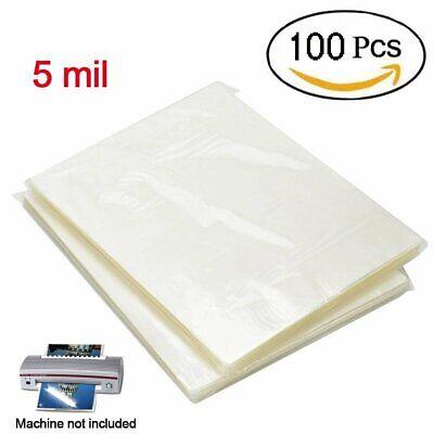 5 Mil Clear Letter Size Laminating Laminator Pouches Paper Sheets 9x11.5 100pcs