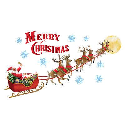 Santa's Sleigh Garage Door Magnets Outdoor Decoration - Merry Christmas