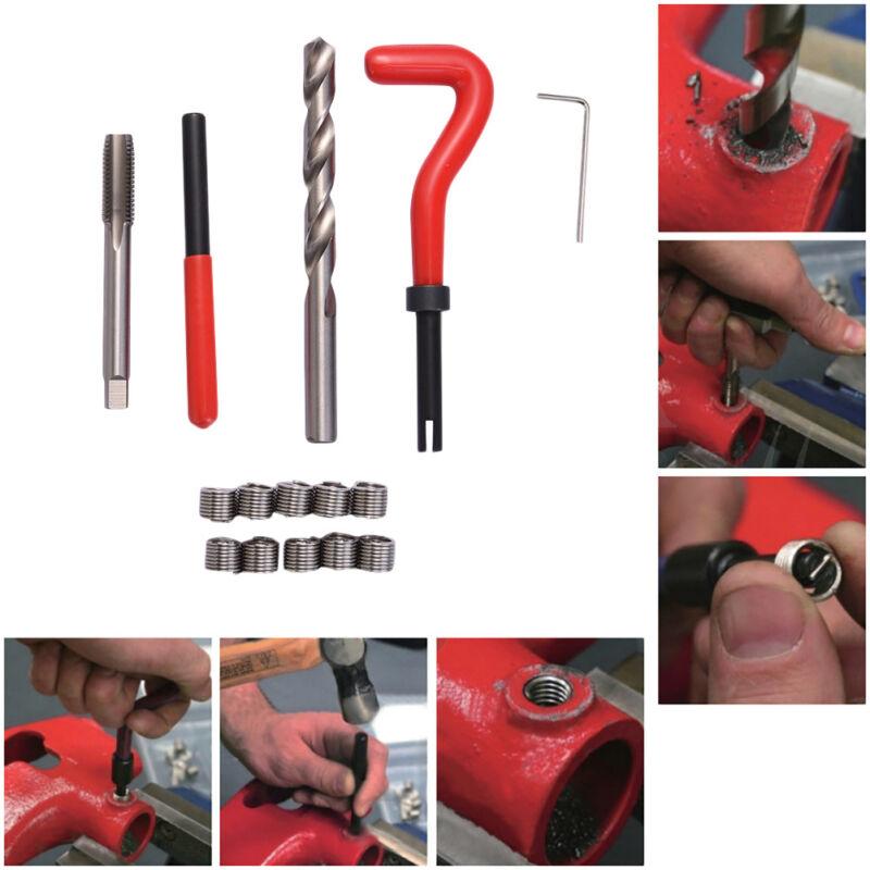 15Pcs Helicoil Thread Recoil Insert Installation Repair Kit Drill Tap M10 x 1.25