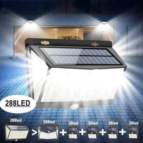waterproof 288 led solar power light pir