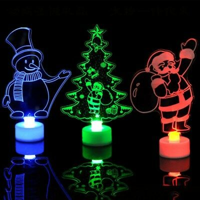 2018 Christmas Changing Color Small Night Light LED Lamp Home XMS Party Decor