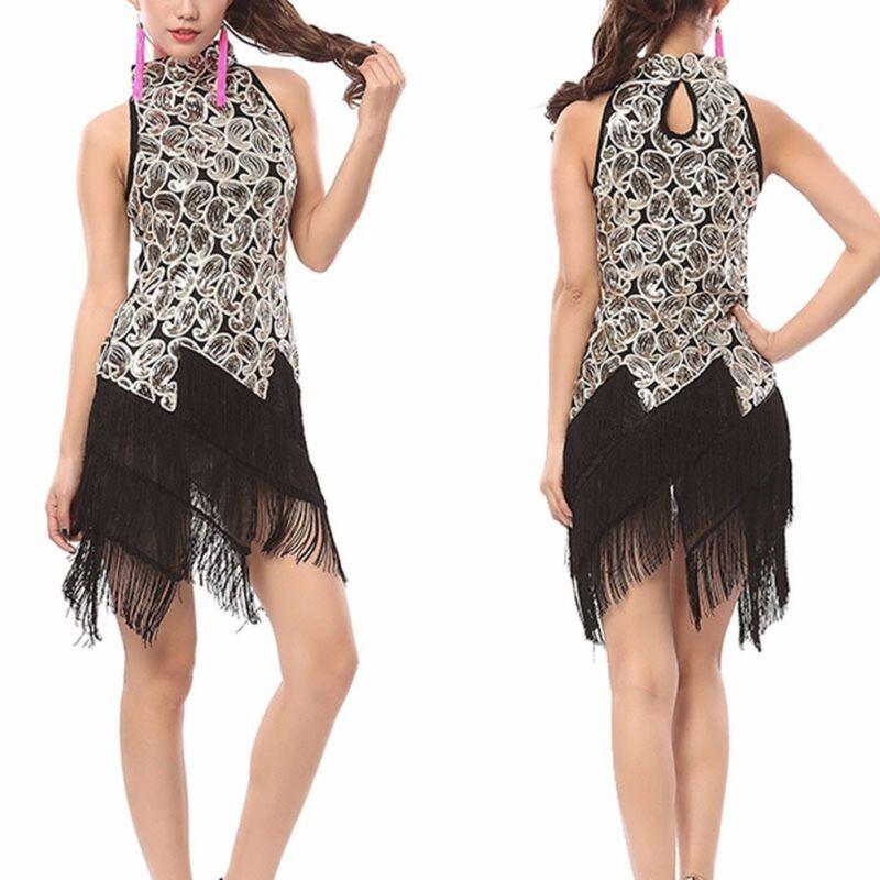 bdb4818ab86 1920s Flapper Dress Clubwear Party Gatsby Sequin Tassel Plus Size Dress  3225