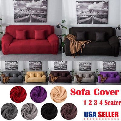 EASY Stretch Couch Sofa Lounge Covers Recliner 1 2 3 4 Seater Soft Fleece (Fleece Recliner Cover)