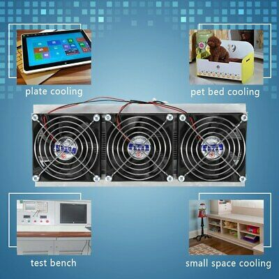 Trinuclear Thermoelectric Peltier Refrigeration Air Cooling System Kit Cooler Us