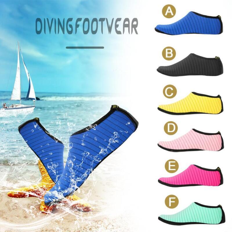 Details about Men Women Water Shoes Aqua Sock Yoga Exercise Pool Beach  Dance Swim Slip On Surf