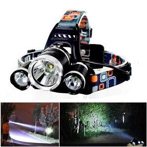6000Lm 3x CREE XM-L T6 LED Flashlight Rechargeable Headlamp Headlight Torch FT