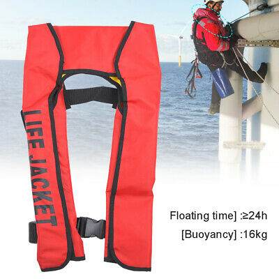 Auto/Manual Adult Life Jacket Vest Scarf Inflatable Survival Floatation Devices