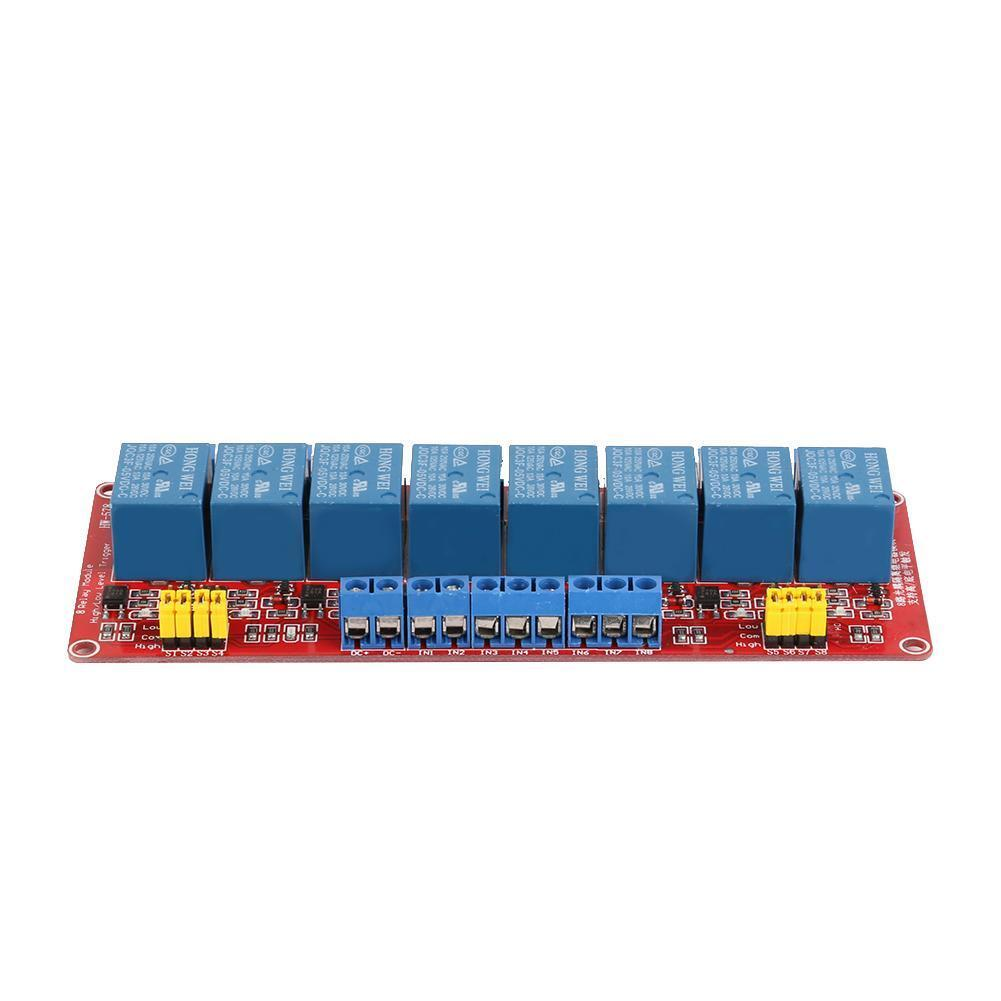 8 Channel 5//12V Relay Module Optocoupler Isolation H//L Level Trigger Relay Board