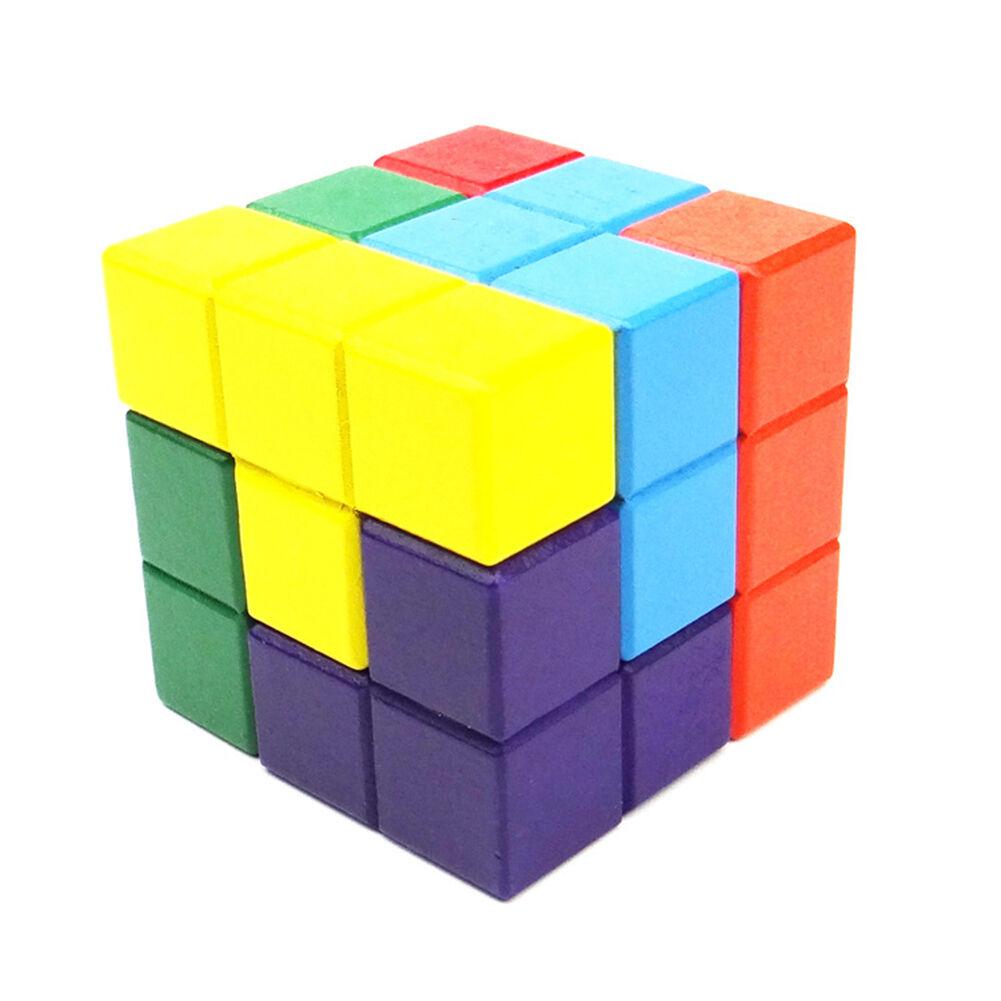 6 6 6 classic game tetris soma cube building blocks puzzle wooden kids toy diy ebay. Black Bedroom Furniture Sets. Home Design Ideas