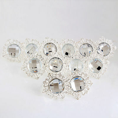 12 Pcs Wedding Banquet Dinner Decor Silver ...