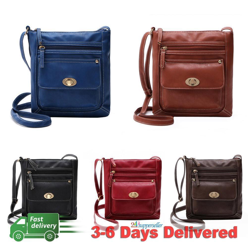 Bag - Women Lady Leather Handbag Shoulder Bag Tote Purse Messenger Satchel Crossbody