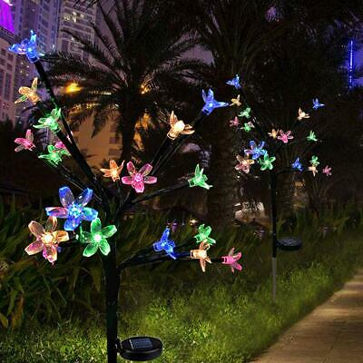 LED Blossom Flowers Solar Lights For Garden Patio Backyard Stake Lamp Home (Patio Led Lights)