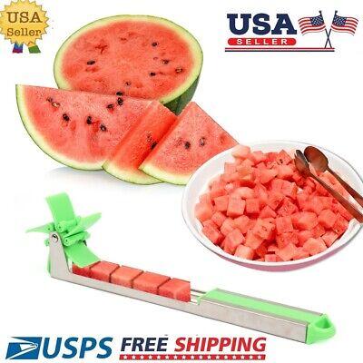 Watermelon Slicer Cutter Windmill Fruit Melon Stainless Steel Kitchen Tool US