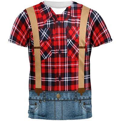 Halloween Lumberjack Costume All Over Adult T-Shirt - Lumberjack Halloween Costume
