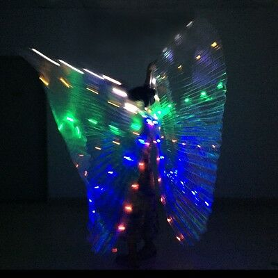 BELLY DANCE Wings light up show LED ISIS WINGS White RAINBOW GOLD SilverWings