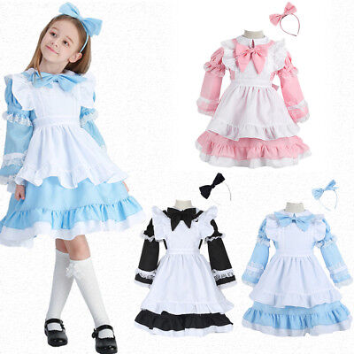 Alice in Wonderland Maid Costume Mother Daughter Dress Christmas Family Clothes - Maid Costumes For Girls