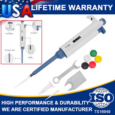 10-100ul Liquid Handling Transfer Adjustable Variable Vol Micropipette Pipettors