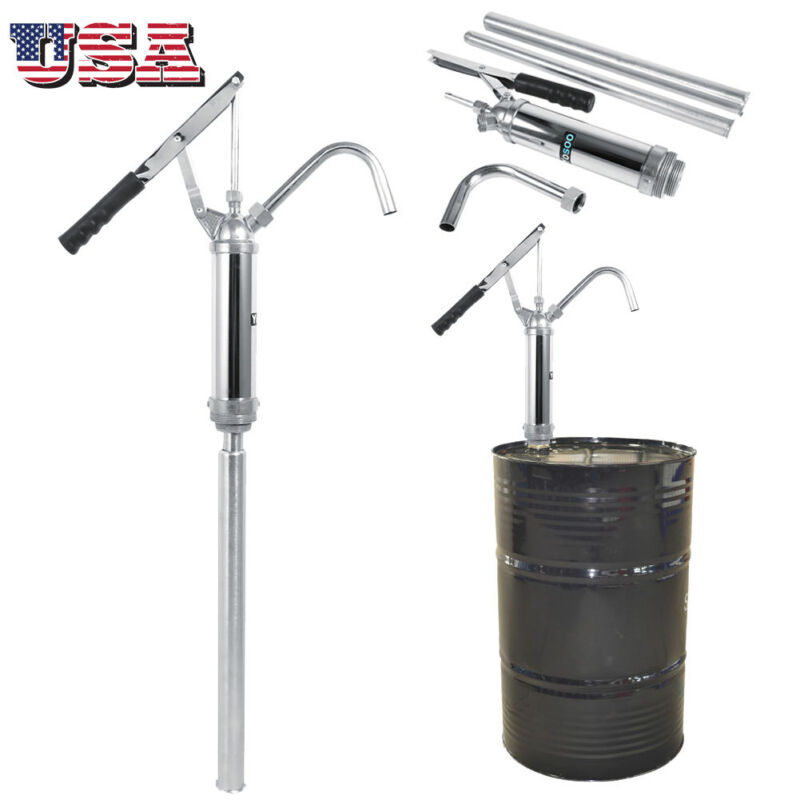 Lever Action Hand Barrel Pump Water Petrol Oil Diesel Thinner Fuel Drum Rotary