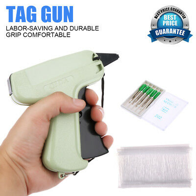 Clothes Garment Price Label Tagging Cardboard Tag Gun 5 Needles 1000x 3 Barbs