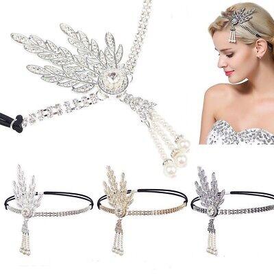 Gatsby Stirnband Crystal Pearl Party Braut Kopfschmuck Neu (1920er Jahre Schmuck)