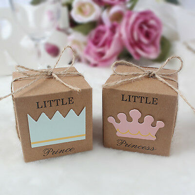 50x Baby Shower Sweet Candy Box Gift Bags Birthday Party Baptism Favor for Guest](Gift Bags For Baby Shower Favors)