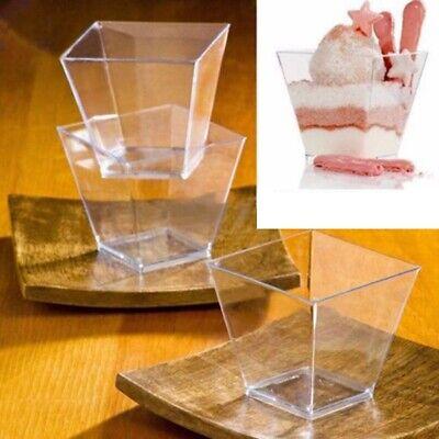 50X 60/120ml Dessertschalen Transparent Eisbecher Plastikschälchen Party Becher