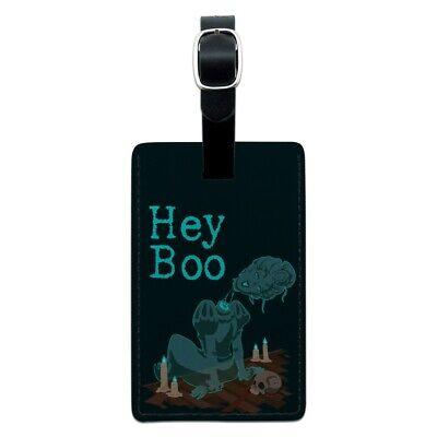 Hey Boo Victorian Headless Ghost Woman Rectangle Leather Lug