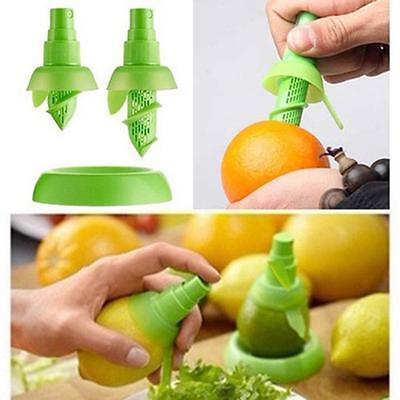 2x Lemon Juice Sprayer Citrus Spray Fruit Juicer Squeezer Lime Kitchen Green BT