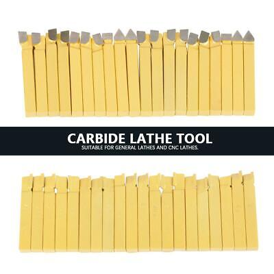20 Pcs Lathe Tooling Carbide 38 Tipped Cutter Tool Bit Cutting Set Metal New