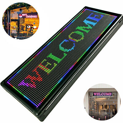 40x15 Inch Full Color Led Sign Open Sign For Ad Scrolling Message Programmable