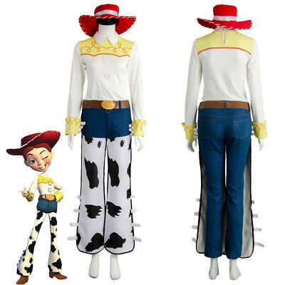 Toy Story The Yodeling Cowgirl Jessie Outfit Cosplay Costume Halloween Uniform - Cowgirl Halloween Costume