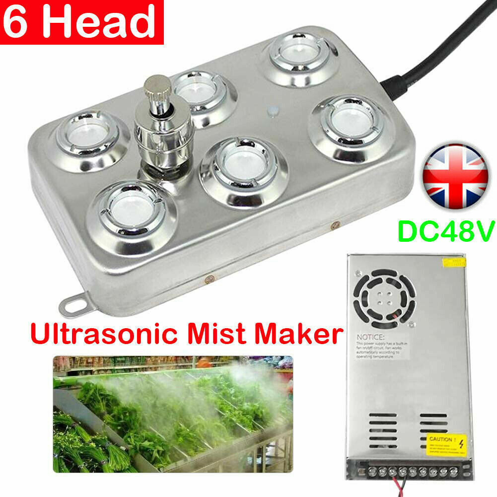 Details about 610 Heads Ultrasonic Mister Maker Fogger Fog Water Pond Atomizer Air Humidifier