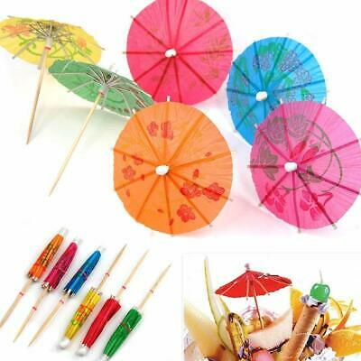 Colorful Cocktail Drinks Paper Umbrellas Picks Hawai and Pool Party Supplies US
