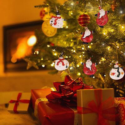 Resin Santa Claus Snowman Christmas Ornaments, Decorative Hanging Xmas Tree 6ast