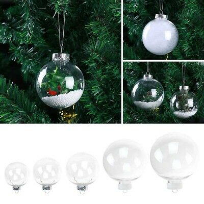 1pc Clear Plastic Ball Baubles Xmas Party Hanging Tree Decor Christmas Ornaments