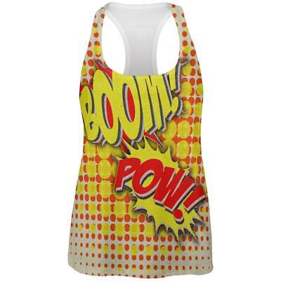 Halloween Boom Pow Vintage Comic Book Costume All Over Womens Work Out Tank Top