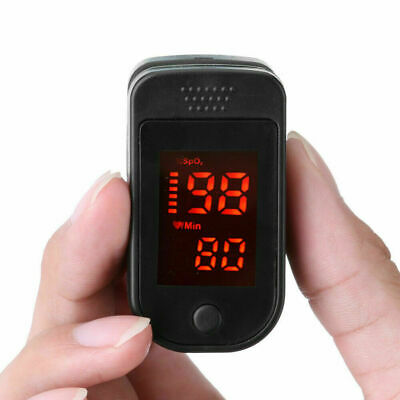 Fingertip Pulse Oximeter Spo2 Pr Blood Oxygen Meter Monitor Black Very Fast Ship