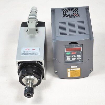 Four Bearing 4kw Air-cooled Motor Spindle And Matching Inverter Drive Vfd Top
