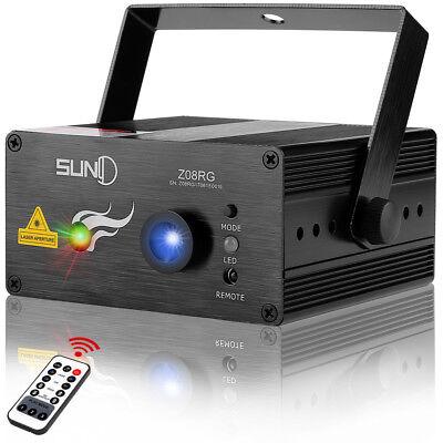 Remote 8 Big patterns RG Laser Light BLUE LED Stang Lighting DJ Home show Party