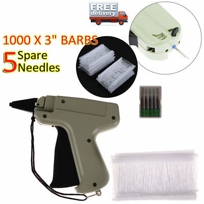 Clothing Tagging Tag Gun 6000 Tag Barbs 5 Needles Garment Price Label Clothes