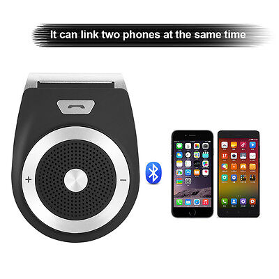 Wireless Bluetooth Hands Free Car Sun Visor Clip Auto Kit Speaker Music player