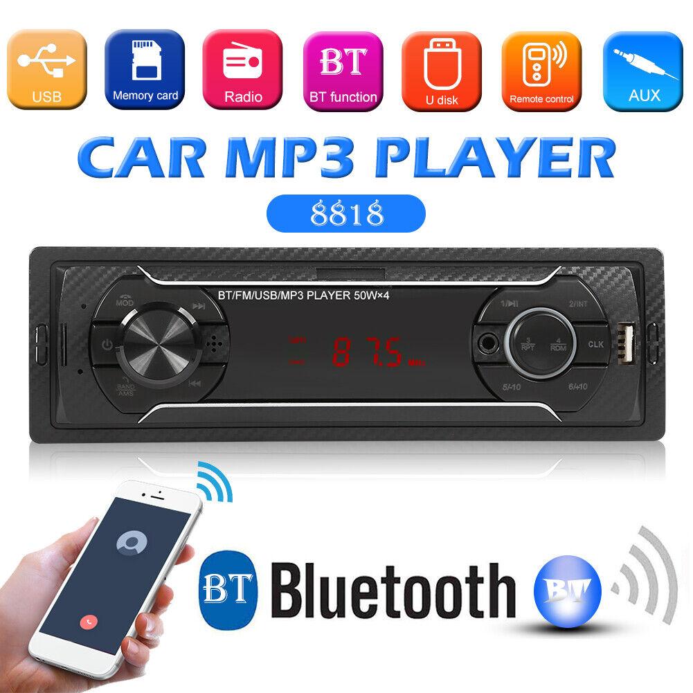 Bluetooth Car HD Stereo Audio In-Dash FM Aux Receiver SD USB