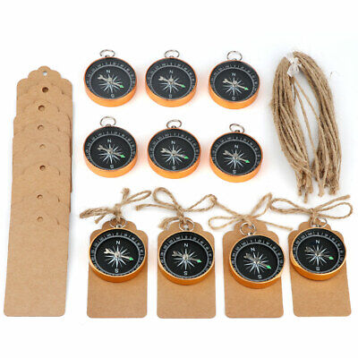50×Gold Compass Souvenir Gift for Guests Travel Themed Wedding Party Wish Tags - Themes For Weddings