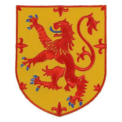 VEGASBEE® SCOTLAND LION RAMPANT SHIELD SCOTTISH HERITAGE CREST EMBROIDERED PATCH